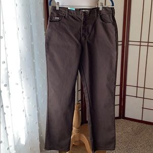 NWT Lee Relaxed Straight Leg Brown Jeans